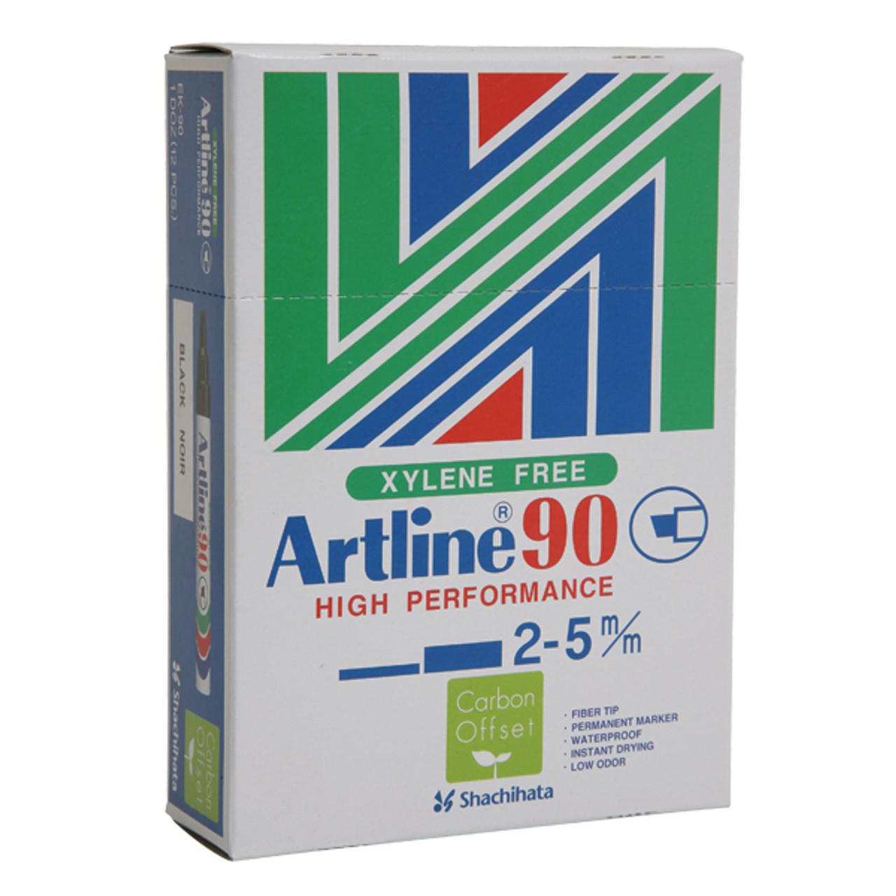 Artline Permanent Marker 90 Med Chisel Nib Multiple Colors