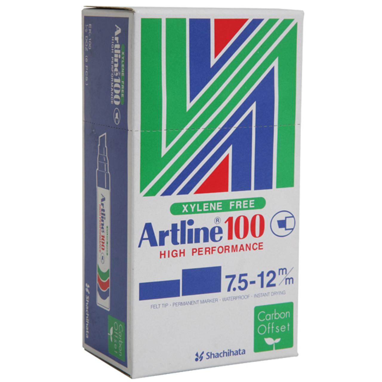 Artline Permanent Marker Chisel Nib Multiple Colors 100