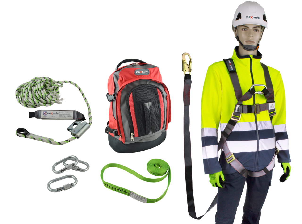 FULL BODY ROOFERS HARNESS COMPLETE KIT