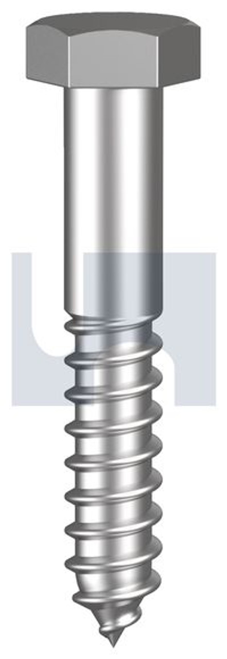 STAINLESS 316 HEX HEAD COACH SCREW