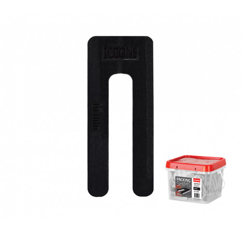 WINDOW PACKER - SHIM 100 BOX ICCONS 10.0mm x 75mm BLACK