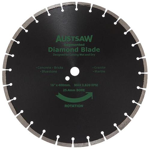 Diamond Blade 25.4/20mm Bore Austsaw Segmented General Purpose
