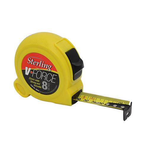 8m x 25mm V-Force Metric Measuring Tape