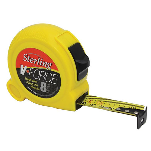 8m/27ft x 25mm V-Force Metric Imperial Measuring Tape