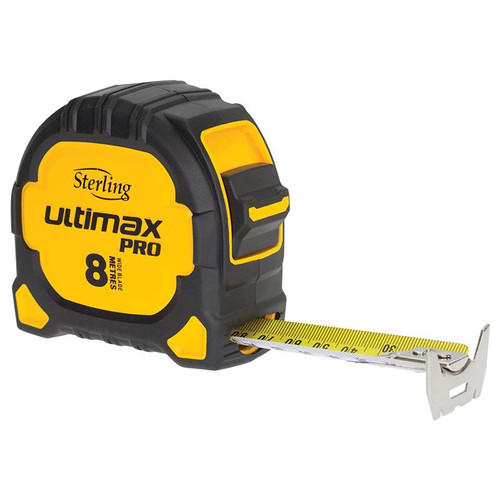 Sterling Ultimax Pro Tape Measure: 8m Metric