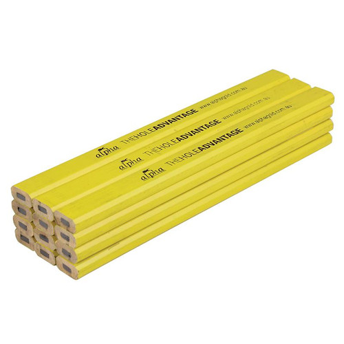 Yellow ALPHA Carpenters Pencil
