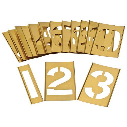 Brass Interlocking Heavy Duty Number 0-9 Stencils Different Sizes