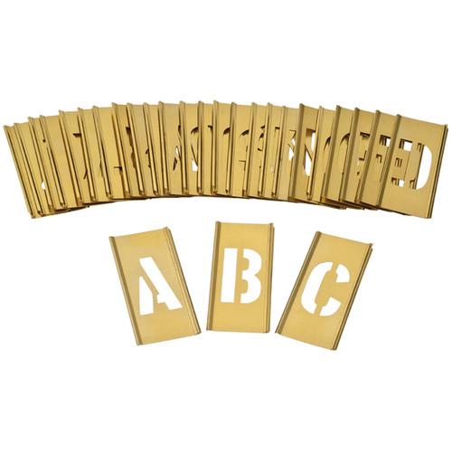 Brass Interlocking Heavy Duty Letter A-Z Stencils Different