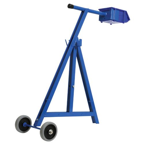 Steel Strap Dispenser - Blue with wheels