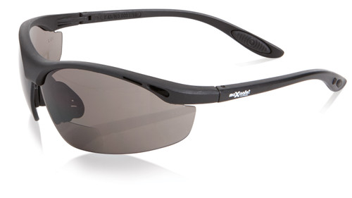 SMOKE BIFOCAL SAFETY GLASSES