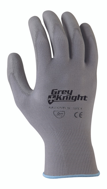 GREY KNIGHT NYLON GLOVE GREY PU COATED