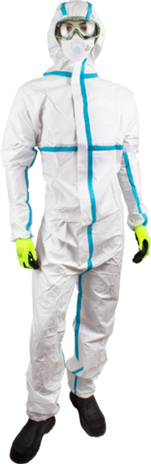 AQUAGUARD TYPE 4/5/6 IMPERMEABLE DISPOSABLE COVERALL