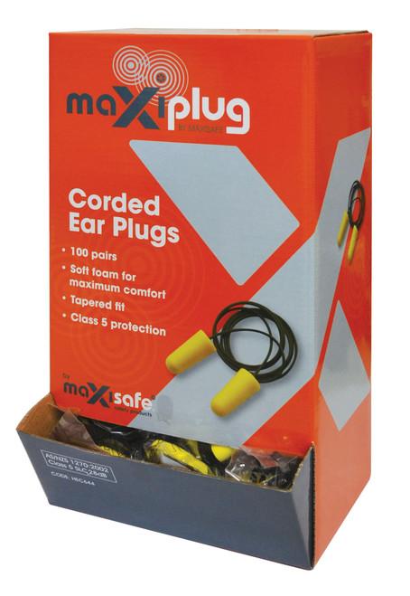 MAXIPLUG TAPERED EARPLUG CLASS 5 CORDED BOX 100 PAIRS