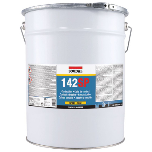 142SP SPRAY CONTACT ADHESIVE ROSE 20L