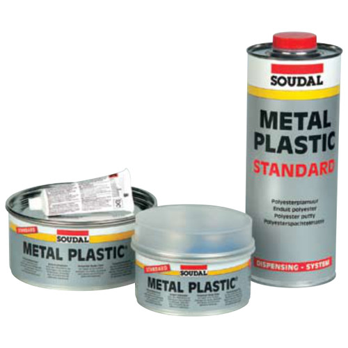 METAL PLASTIC SOFT POLYESTER PUTTY