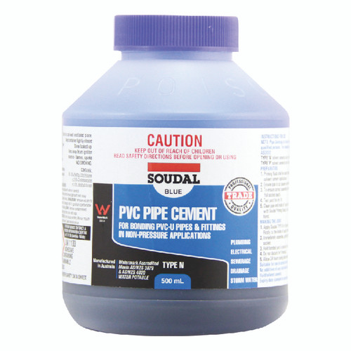 PVC PIPE CEMENT TYPE N BLUE
