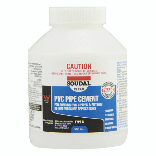 PVC PIPE CEMENT TYPE N CLEAR