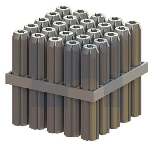 12.0mm PVC WALL PLUG TAPERED POINT GREY