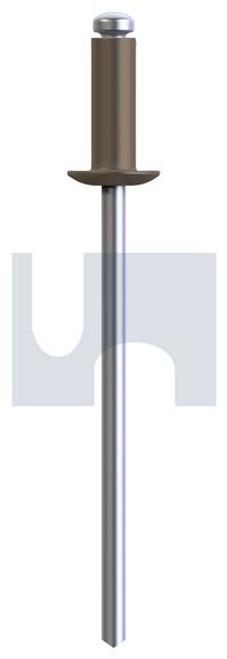 RIVET 5052 ALUM/STEEL JASPER DOME HEAD