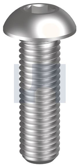 STAINLESS 304 BUTTON HEAD SOCKET SCREW UNC