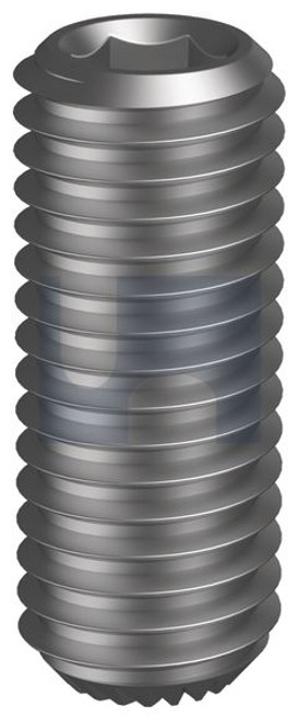PLAIN GRUB SCREW KNURLED CUP POINT METRIC