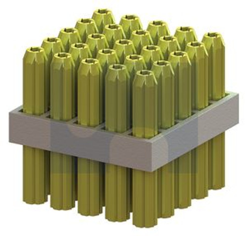 4.0mm PVC WALL PLUG TAPERED POINT YELLOW