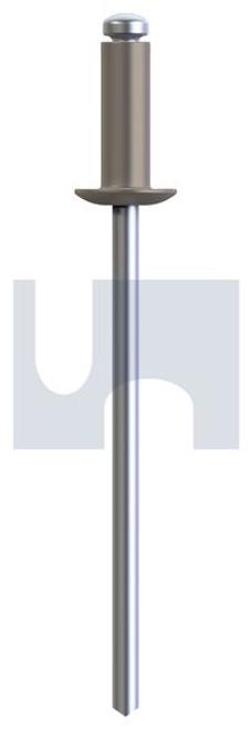 RIVET 5052 ALUM/STEEL GULLY DOME HEAD