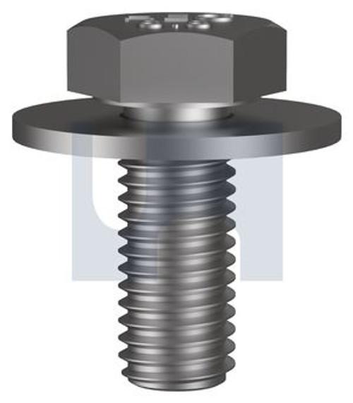 10x 25mm ZINC PLATED 8.8 SEM ASSEMBLY STEEL HEX