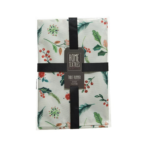 TableRunner-Polyester-Leaf and Berry Print