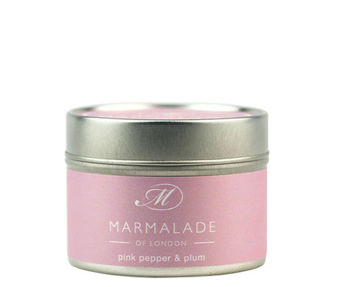 Pink Pepper and Plum Luxury Tin Candle -Small