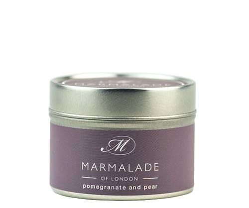 Pomegranate and Pear Luxury Tin Candle - Small