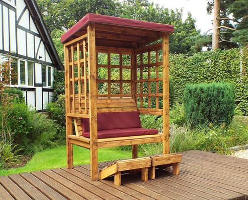 Garden arbour with canopy