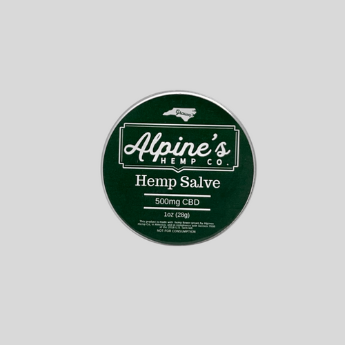 Alpine's full spectrum salve contains all of the naturally available compounds of the cannabis plant. In hemp-derived full-spectrum CBD, the THC will be no more than 0.3 per the 2018 Farm Bill.