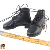 German 1940 Fashion - Black Boots for Feet - 1/6 Scale