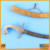 Persian Empire Bowman - Metal Scimitar Sword - 1/6 Scale -