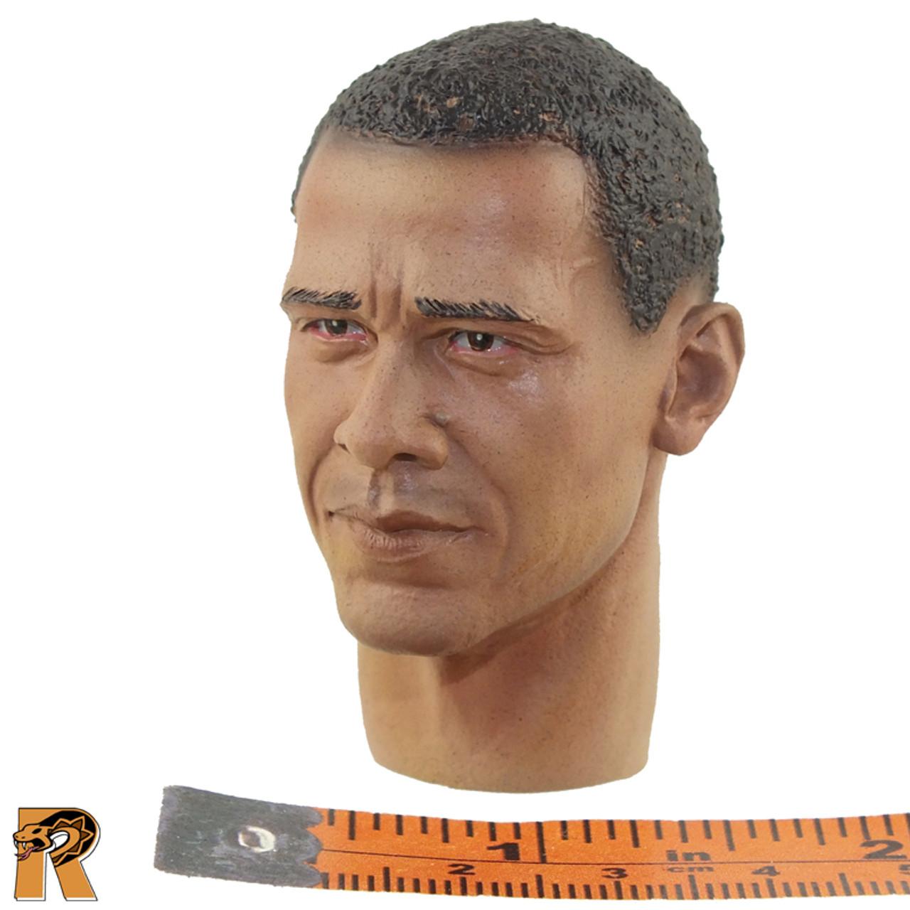 Obama - Head Sculpt (Serious) - 1/6 Scale