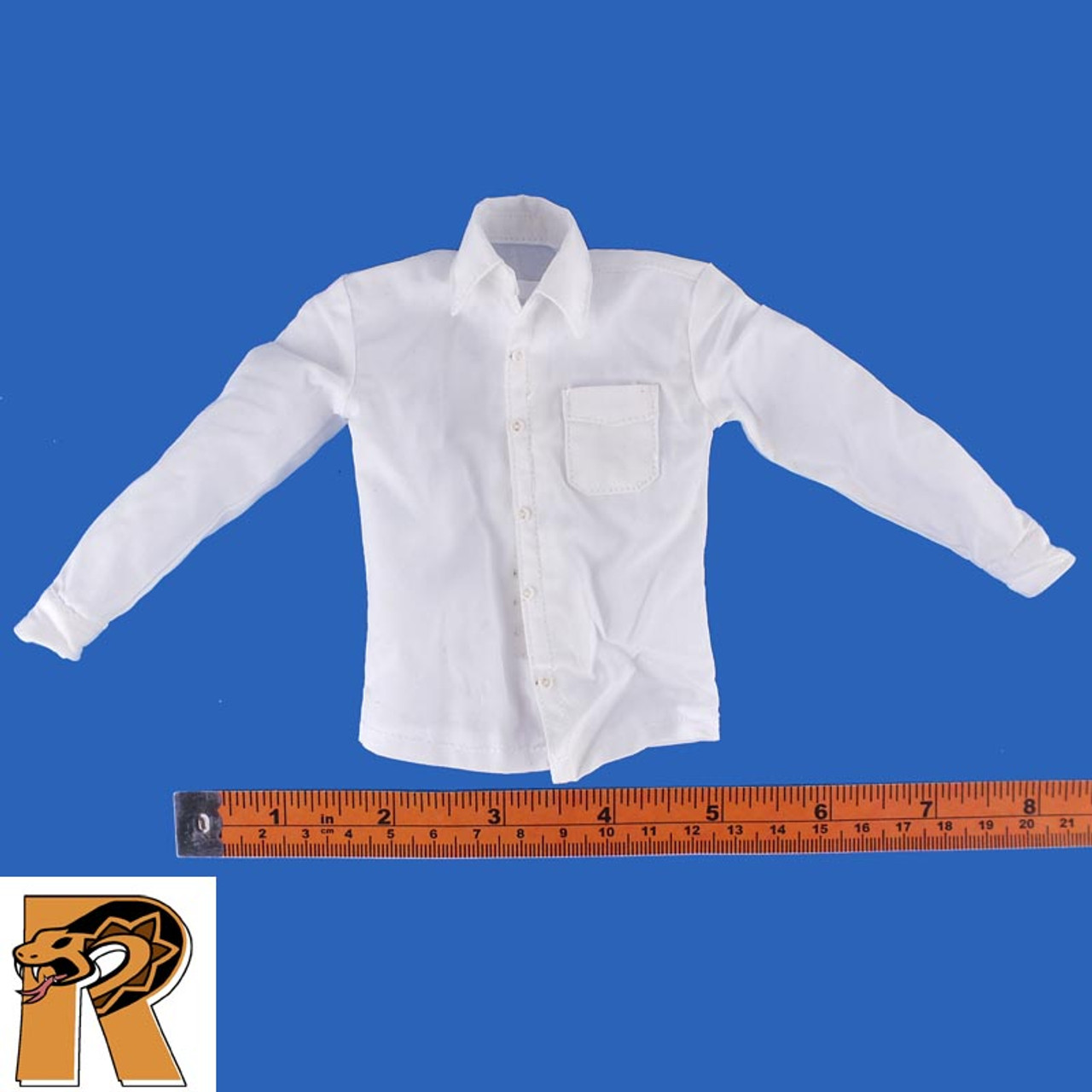 Spectre James Bond - White Dress Shirt - 1/6 Scale -