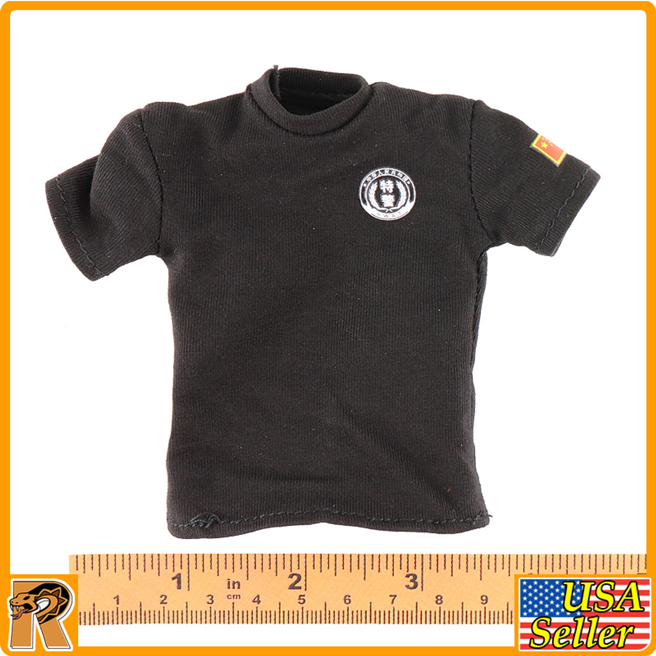 China SWAT Shandian Commando - BlacK T Shirt - 1/6 Scale -