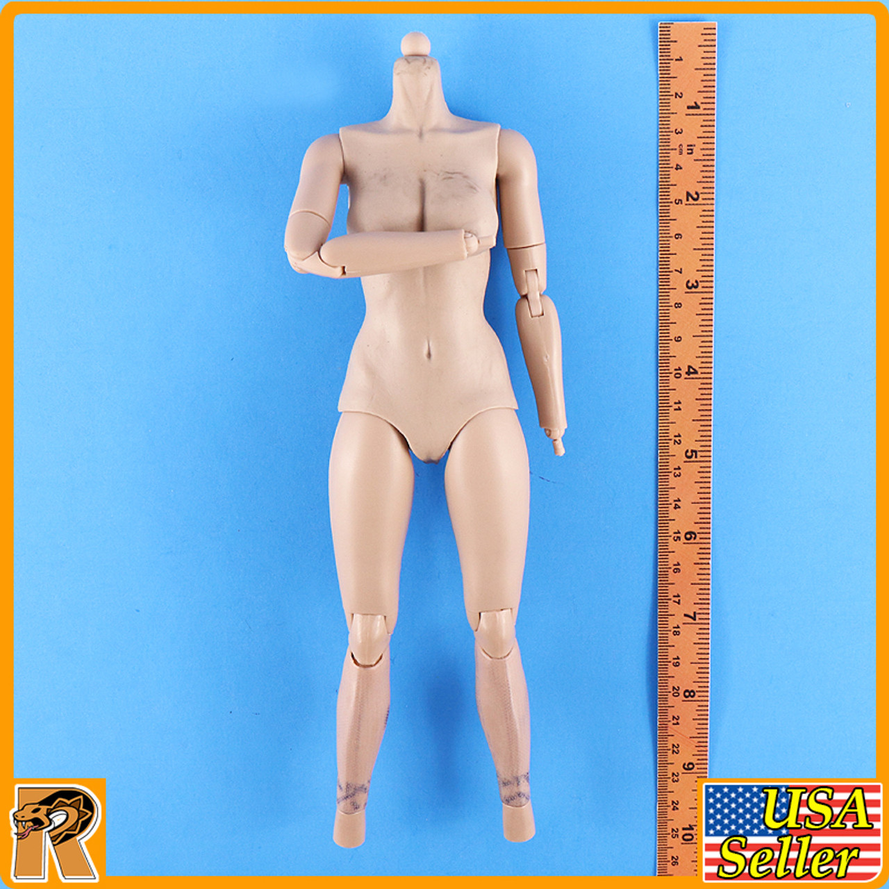 Female Avenger - Nude Body *STAINS* - 1/6 Scale -