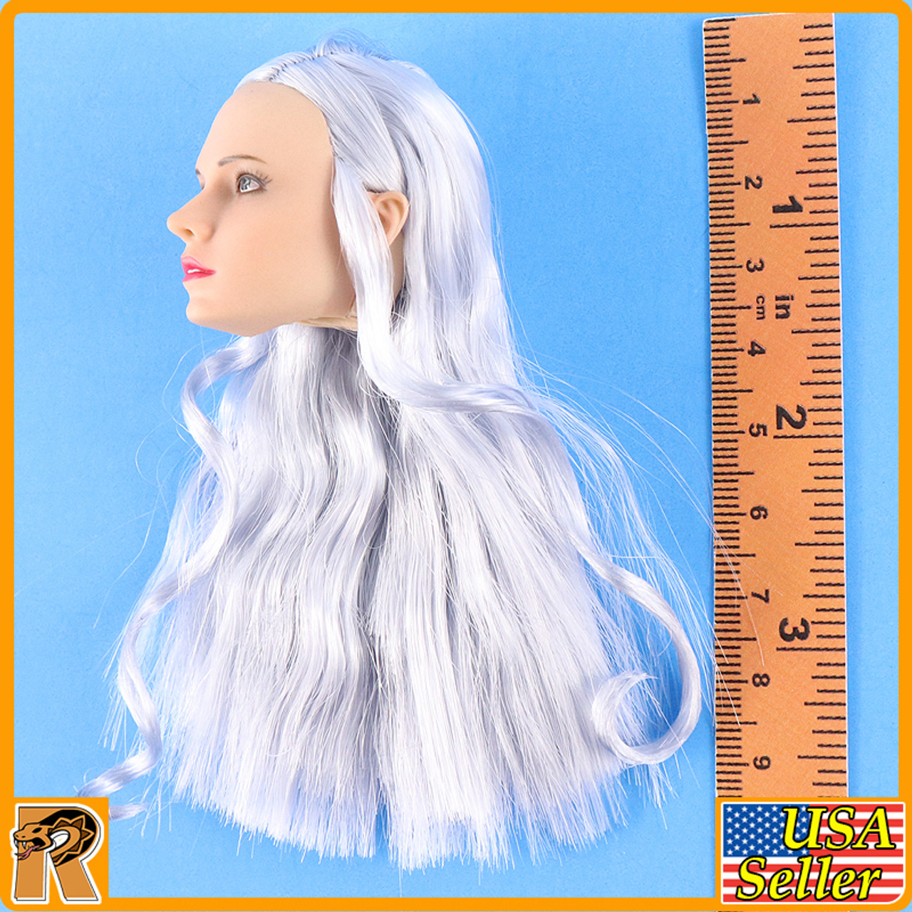 Katyusha Red Alert Soviet Female - Head w/ Silver Rooted Hair - 1/6 Scale -