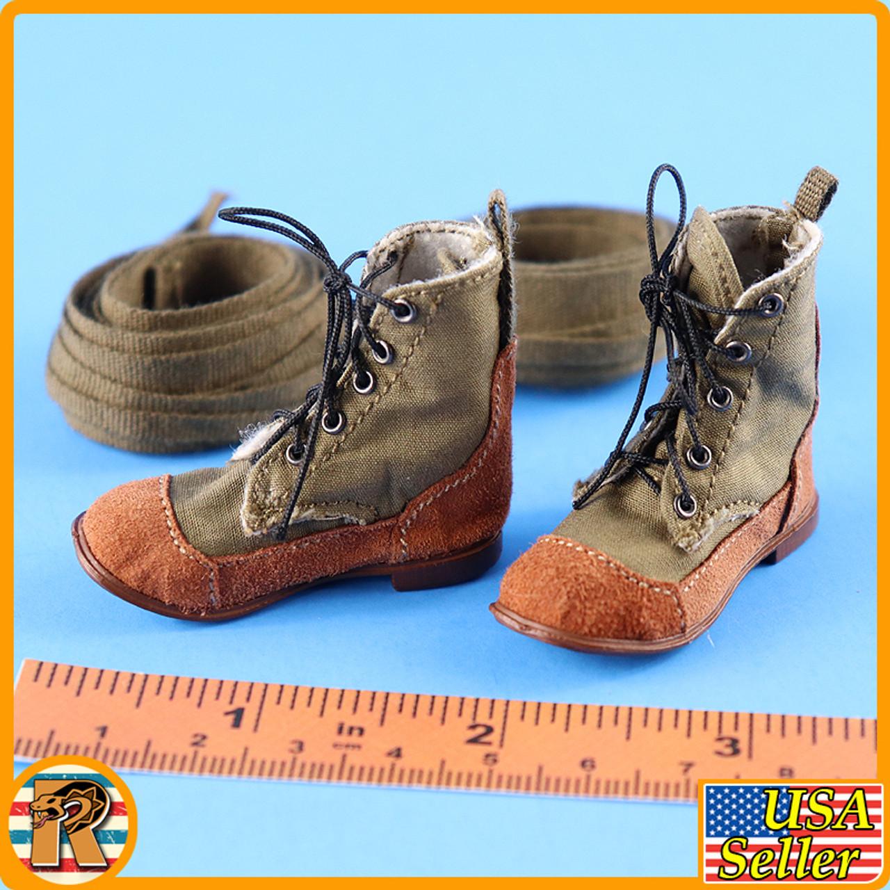 1938 Battle of Hailar - Boots (for Feet) w/ Leggings - 1/6 Scale -