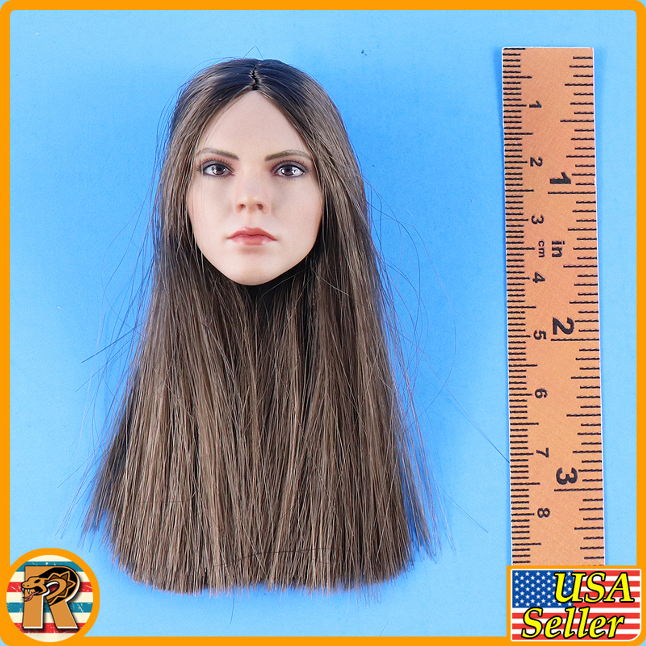 Western Beauty - Head w/ Brown Rooted Hair #2 - 1/6 Scale -