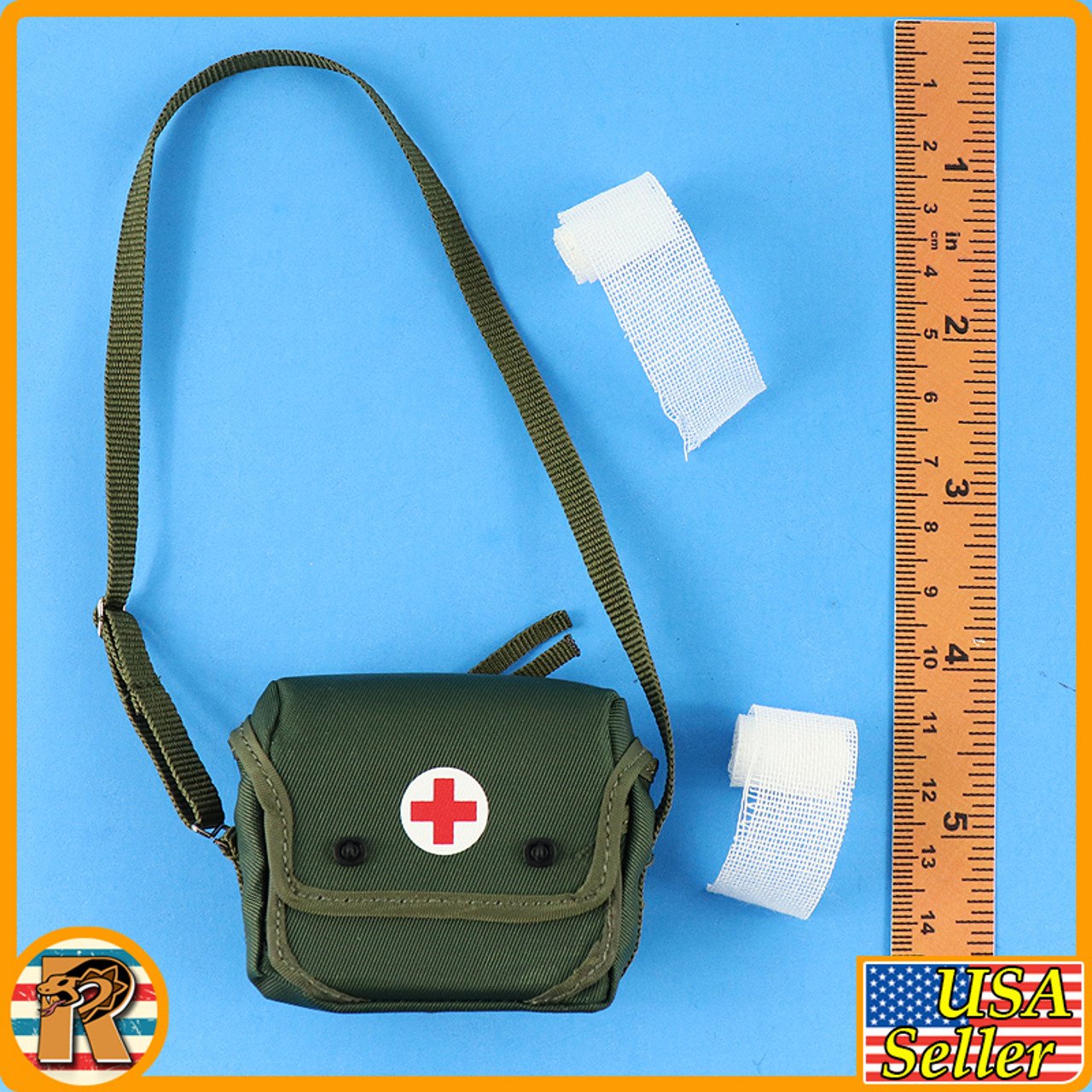 Female Medic Ten Sisters - Medical Bag w/ Bandages - 1/6 Scale -