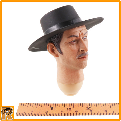 Bad Cowboy V2 - Head w/ Cowboy Hat - 1/6 Scale