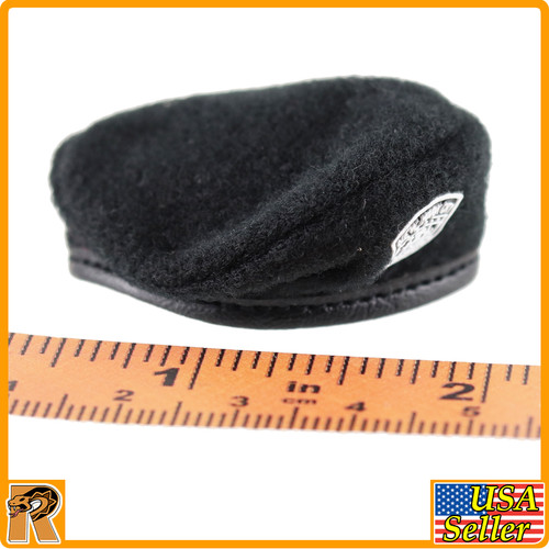 FG074 - Black Police Beret (Female) - 1/6 Scale -