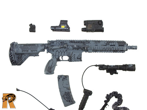 Private Military Contractor - HK416 Rifle Set - 1/6 Scale -