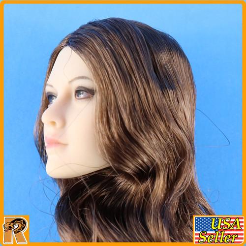Anna Female Head - Brown Hair & Dark Eyes YM026B #2 - 1/6 Scale -