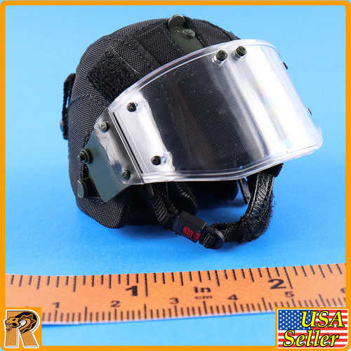 BULAT MVDSOBR Spetsnaz - Riot Helmet w/ shield - 1/6 Scale -