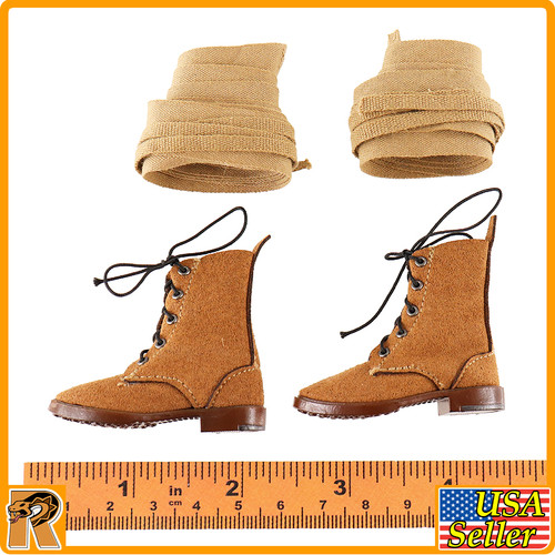 Battle of Tengchong - Boots w/ Leggings - 1/6 Scale -