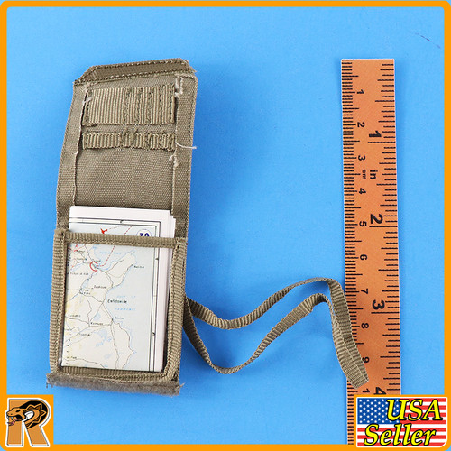 David Stirling SAS Founder - Map Pouch & Map - 1/6 Scale -
